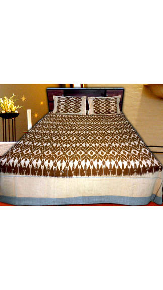 Pochampally Double Cot Cotton Bedsheet RS.1081