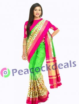 Pochampally ikkat  silk saree-10-7900