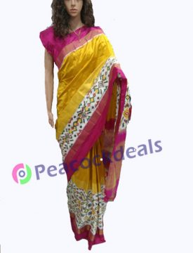 Pochampally ikkat  silk saree- 19-7900