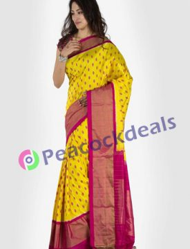 Pochampally ikkat  silk saree- 24-8400